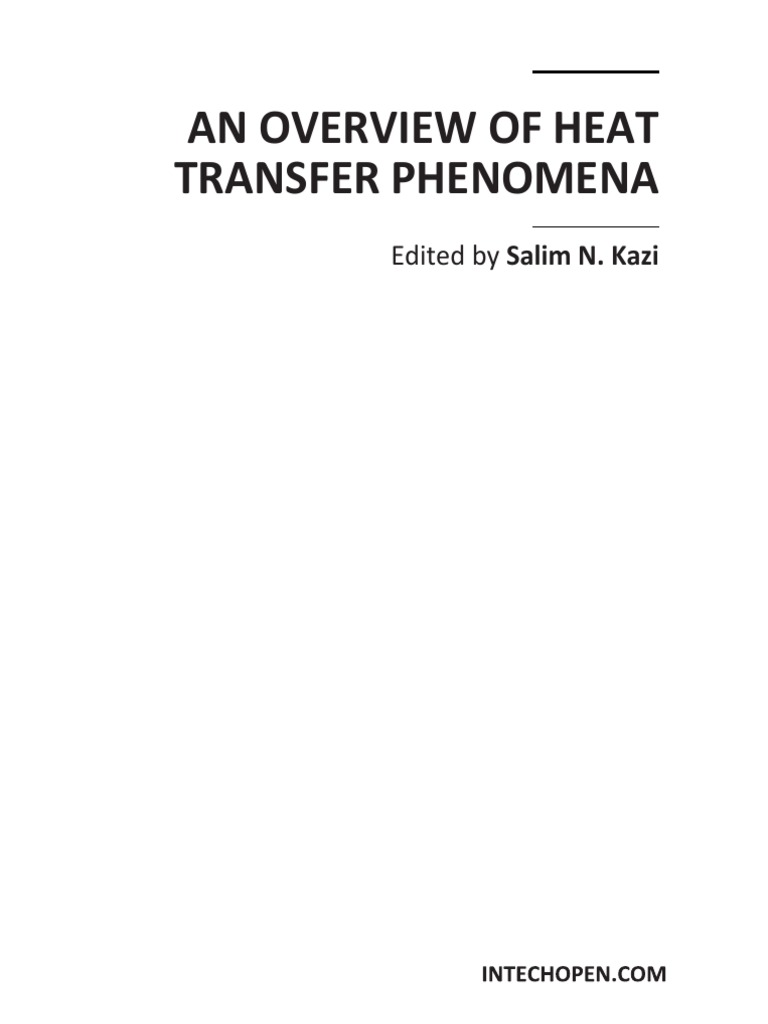 An Overview of Heat Transfer Phenomena | Heat Transfer | Thermal Conduction
