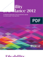 SDD Disability Glance 2012