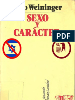 108651347 Otto Weininger Sexo y Caracter