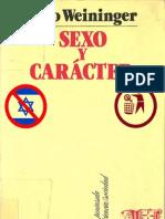 108651347 Otto Weininger Sexo y Caracter