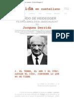 Derrida en castellano - El oído de Heidegger