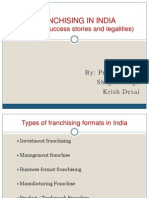 Franchising Formats in India