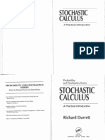 Sochastic Calculus - A Practical Introduction,Durrett,