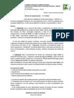 Edital de convocação para aferiação anual de taxímetros_2013