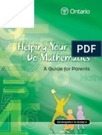 Helping your child doing mathematics parentGuide