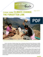 FOOD AND CLIMATE CHANGE: THE FORGOTTEN LINK