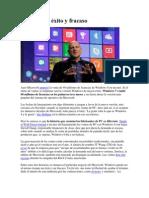 Windows 8, éxito y fracaso