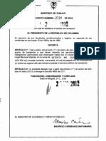 Decreto subsidio transporte 2013