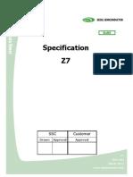 Especificações técnicas  leds de potencia Z7