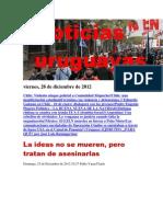 Noticias Uruguayas viernes 28 de diciembre del 2012