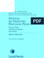 MANUAL DE DERECHO PROCESAL PENAL - JORGE MORAS MOM