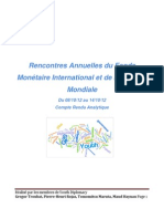 Rencontres FMI - Banque mondiale 2012. Compte-rendu analytique Youth Diplomacy