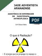 Assistencia de enfermagem em radioterapia antineoplasica