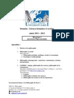 Brochure M1 2011-2012