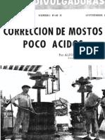 Corrección de mostos poco ácidos. (1949)