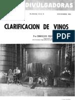 Clarificación de vinos. (1955)