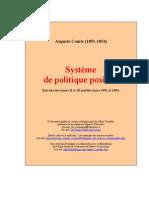 8339887 Auguste Comte Systeme de Politique Positive