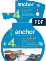 Anchor 4 Quart Mixing Bowl - Product Packaging