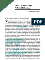 Constitucionalismo y Democracia (Alfonso Ruiz Miguel) RELEER