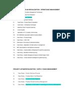 IGNOU MBA Project List
