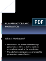 human factors and motivation