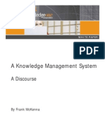 A Knowledge Management System - A Discourse