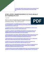Hubungan Dukungan Sosial Keluarga Dengan Kepatuhan Minum Obat Pada Fase Intensif Pada Penderita Tb Di Puskesmas Pracimantoro Wonogiri Jawa