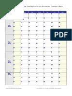 weekly calendar 2013