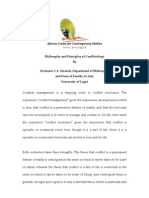 Philosophy and Principles of Conflictology