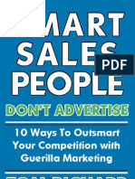 Smart Sales People Don't Advertise