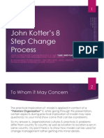 The Early Bird Plan - John Kotter 8 Step Process