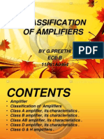 Clasification of Amplifiers