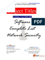 Projectsdeal_Software_NETWORK SECURITY_Titles(2008-2009)