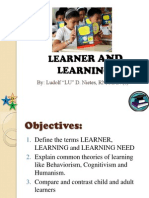 Learner and Learning
