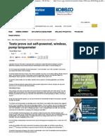 eArt-Tests Prove Out Self-Powered, Wireless, Pump Torquemeter, Oil & Gas Journal