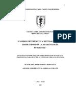CAMBIOS ORTOPÉDICOS Y DENTOALVEOLARESPRODUCIDOS POR LA APARATOLOGÍAFUNCIONAL