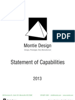 2013 Statement of Capabilties for Montie Design