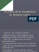La crítica de la arquitectura en América Latina