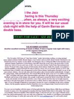 Dec 2012 Cheadle Jazz Guitar Club Newsletter