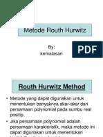Po2 Metode Routh Hurwitz