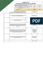 TOR.EL-PROC-14 Procedimiento Colorimetría