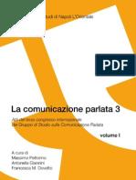 La Comunicazione Parlata 3- Vol. I