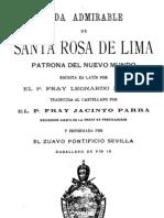Vida Admirable de Santa Rosa de Lima