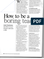 how to be a boring teacher article from etp 12 1999