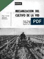 Mecanización del cultivo de la vid. (1967)