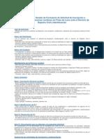 Instrucciones de Llenado Formulario
