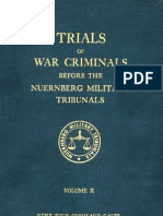 Nuremberg Nuremberg International Military Tribunal Green Series V 10
