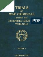 Nuremberg Nuremberg International Military Tribunal Green Series Vol  5