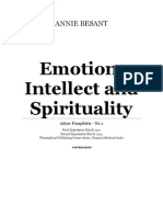 Annie Besant - Emotion, Intellect and Spirituality