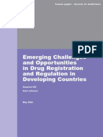 Emerging Challenges and Opportunities in Drug Registration and Regulation in Developing Countries